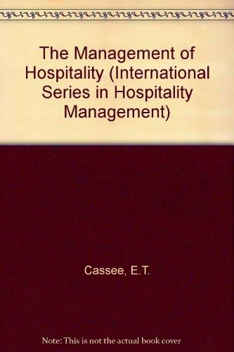 9780080281070: The Management of Hospitality (International Series in Hospitality Management)