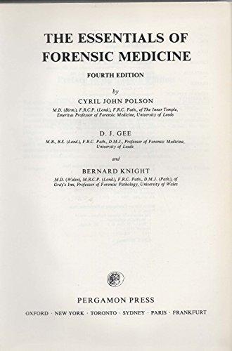 9780080288680: The Essentials of Forensic Medicine
