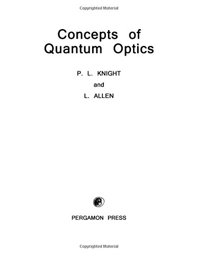 9780080291604: Concepts of Quantum Optics