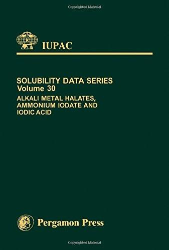 9780080292106: Alkali Metal Halates, Ammonium Iodate & Iodic Acid