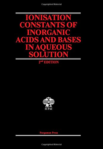 Ionization Constants of Inorganic Acids and Bases: Perrin, D.D.