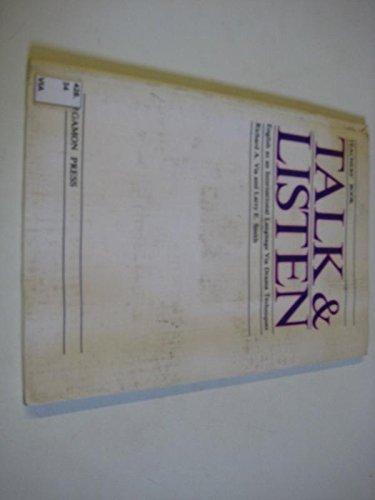 9780080294483: Talk and Listen: English As an International Language Via Drama Techniques : Teachers' Book (World language English series)