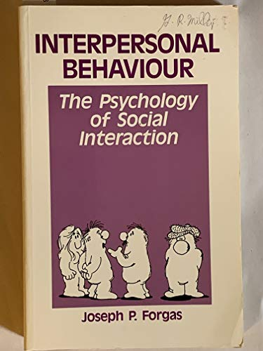 9780080298542: Interpersonal Behaviour: Psychology of Social Interaction