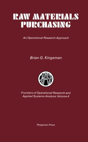9780080299754: Raw Materials Purchasing: An Operational Research Approach