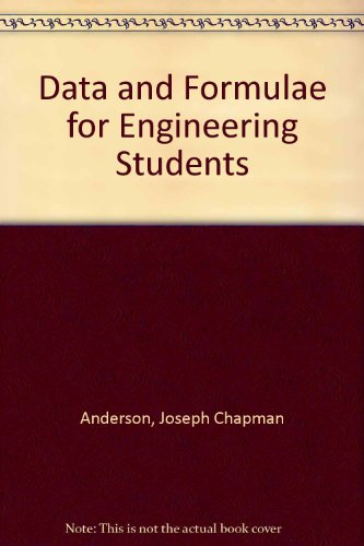 9780080299815: Data and Formulae for Engineering Students