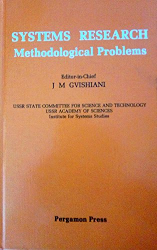9780080300009: Systems Research: Methodological Problems (v. 1)