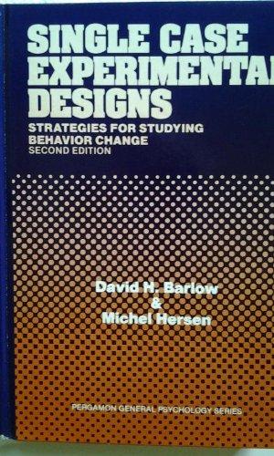 9780080301365: Single Case Experimental Designs (General Psychology)