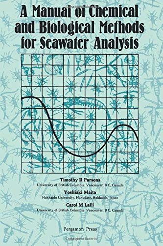 9780080302874: A Manual of Chemical and Biological Methods for Seawater Analysis