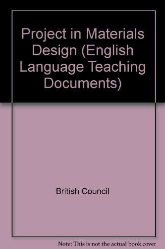 9780080303079: Project in Materials Design (English Language Teaching Documents)