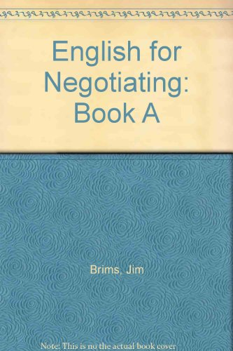 9780080304700: English for Negotiating. Book A