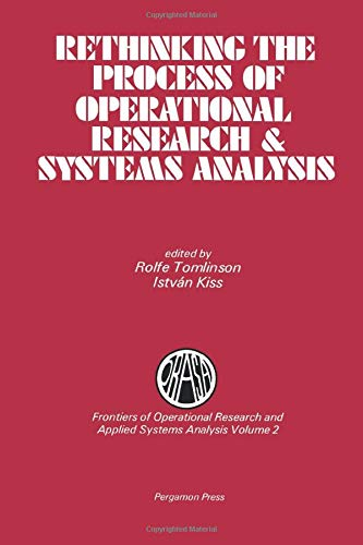 9780080308302: Rethinking the Process of Operational Research & Systems Analysis (Frontiers of Operational FORS)