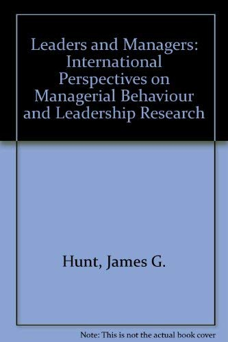 9780080309439: Leaders and managers: International perspectives on managerial behavior and leadership (International leadership symposia series)