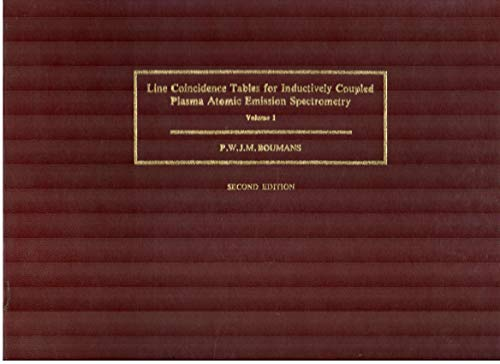 9780080314044: Line Coincidence Tables for Inductively Coupled Plasma Atomic Emission Spectrometry (2 Volume Set)