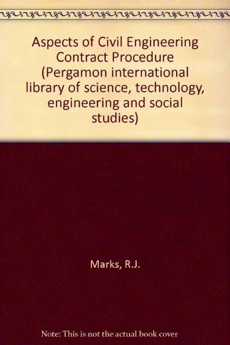 9780080316376: Aspects of Civil Engineering Contract Procedure (Pergamon international library of science, technology, engineering and social studies)