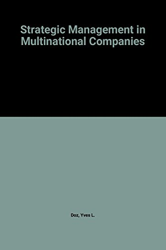 9780080318080: Strategic Management in Multinational Companies