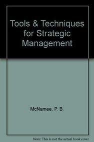9780080318103: Tools & Techniques for Strategic Management