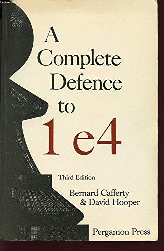 9780080320359: A Complete Defence to 1 E4 (Pergamon Chess Series)