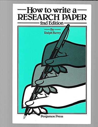 9780080326801: How to Write a Research Paper