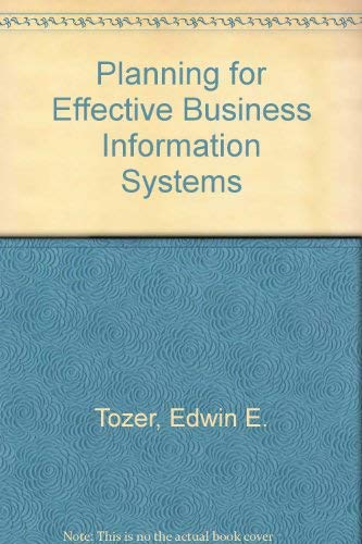 9780080333595: Planning for Effective Business Information Systems