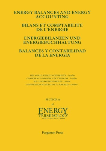 9780080334394: Energy Balances and Energy Accounting: Energiebilanzen und Energiebuchhaltung