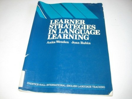 9780080334851: Learner strategies in language learning (Language teaching methodology series)