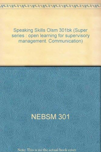 9780080340326: Speaking Skills Olsm 301bk