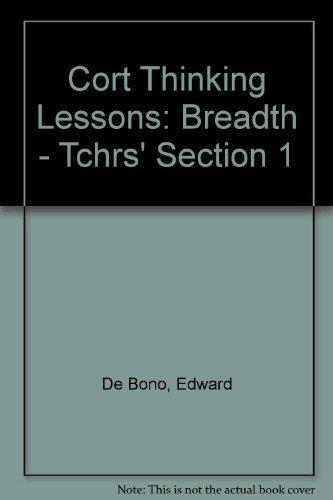 Edward De Bono's Cort Thinking: Book 1: Edward De Bono