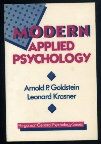 9780080345000: Modern Applied Psychology (General Psychology)