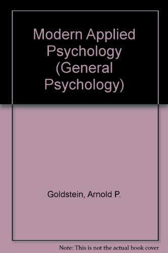 9780080345017: Modern Applied Psychology (General Psychology)