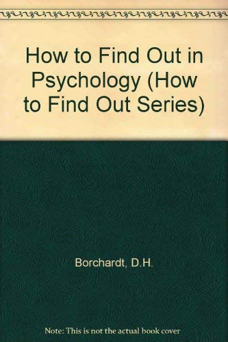 9780080347721: How to Find Out in Psychology (How to Find Out Series)