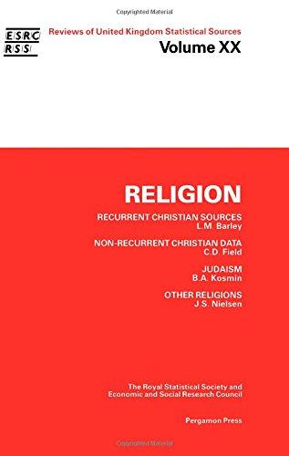 9780080347783: Reviews of United Kingdom Statistical Sources: Religion v. 20