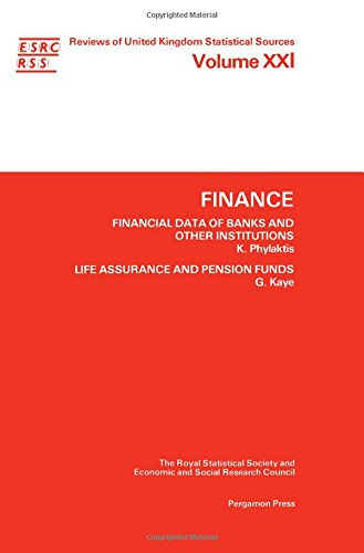 9780080347806: Finance: Financial Data of Banks and Other Institutions, Life Assurance and Pension Funds (Reviews of United Kingdom Statistical Sources)