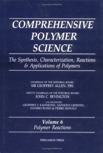 9780080362106: Comprehensive Polymer Science: Polymer Reactions v.6: Polymer Reactions Vol 6