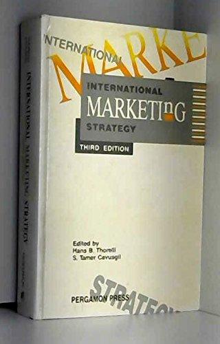 9780080362854: International Marketing Strategy, Third Edition