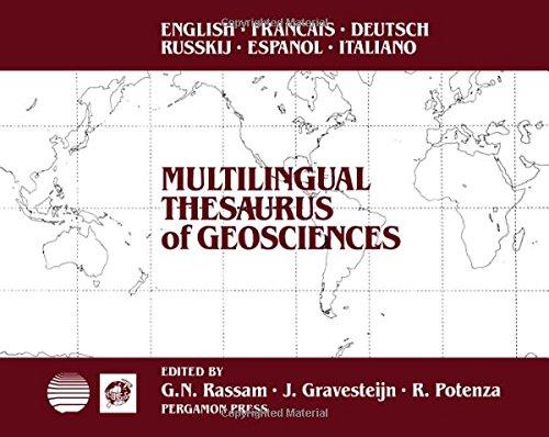 9780080364315: Multilingual Thesaurus of Geosciences/English, French, German, Russian, Spanish, Italian