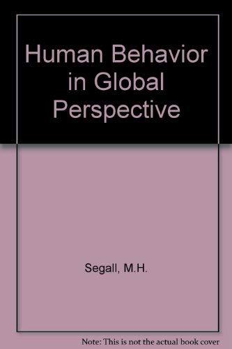9780080368139: Human Behavior in Global Perspective (Pergamon general psychology series)