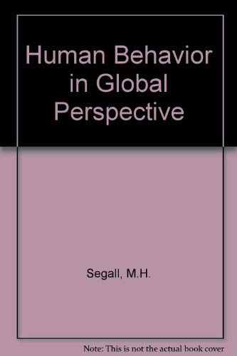 9780080368139: Human Behavior in Global Perspective (Pergamon general psychology series)