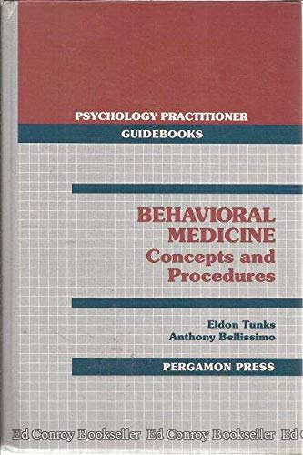9780080368320: Behavioural Medicine: Concepts and Procedures (Psychology Practitioner Guidebooks)