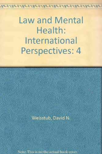 9780080372761: Law and Mental Health: International Perspectives: 4