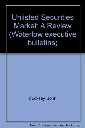 9780080391977: The Unlisted Securities Market
