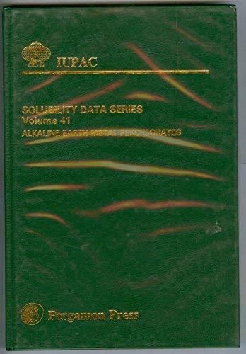 9780080401980: Alkaline Earth Metal Perchlorates