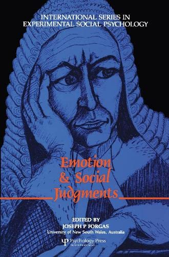 9780080402352: Emotion and Social Judgements (International Series in Social Psychology)