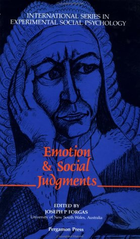 9780080402369: Emotion and Social Judgements (International Series in Social Psychology)