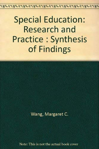 9780080402376: Special Education: Research and Practice : Synthesis of Findings