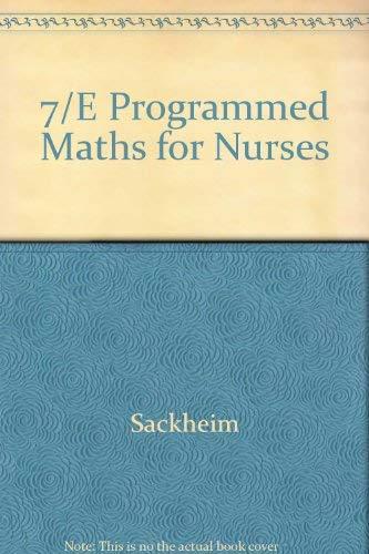 9780080406909: 7/E Programmed Maths for Nurses