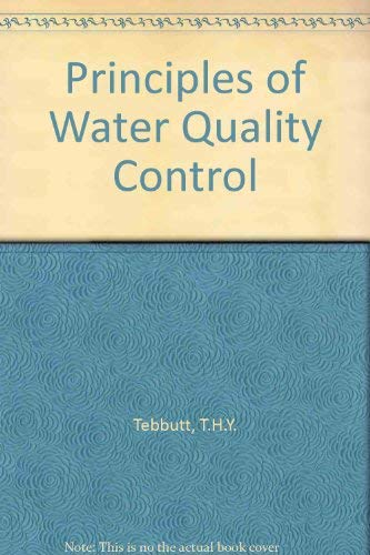 9780080407401: Principles of Water Quality Control