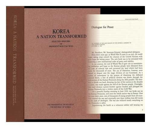 9780080410234: Korea: A Nation Transformed - Selected Speeches (Leaders of the world)