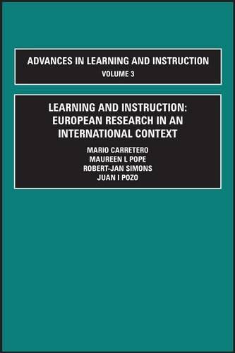9780080410395: Learning and Instruction: European Research in an International Context (Learning and Instruction) (Advances in Learning and Instruction)