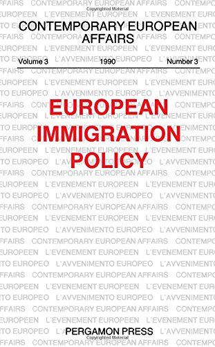 9780080413884: European Immigration Policy (Contemporary European Affairs)