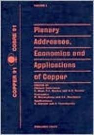 Hydrometallurgy and Electrometallurgy of Copper. Proceedings of the Copper 91 - Cobre 91 ...